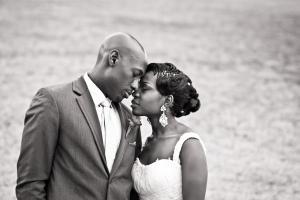 black couple in love